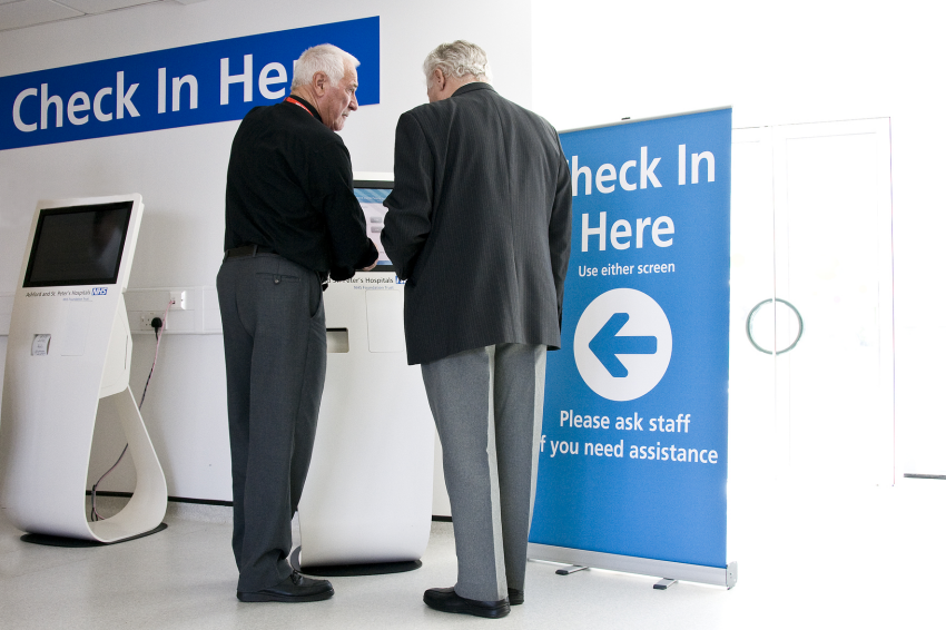 New Self-Check-In Service at Ashford and St Peter's Hospitals